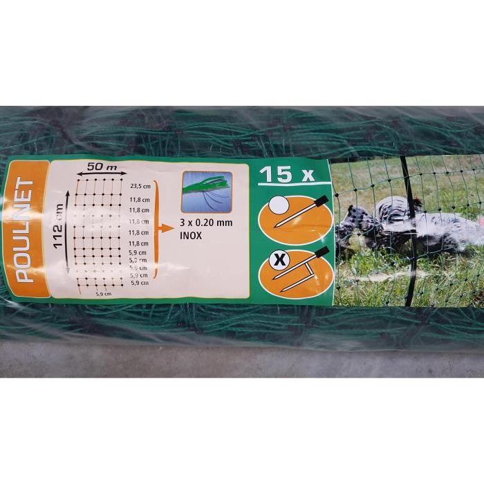 FILET DE PROTECTION Filet cloture DOUBLE POINTE ELECTRIFIABLE longueur