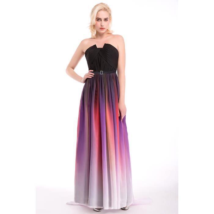 robe longue de soiree en satin achat vente pas cher. Black Bedroom Furniture Sets. Home Design Ideas