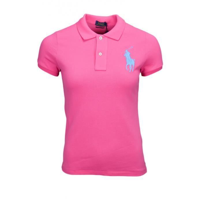 Polo Ralph Lauren rose Big Poney bleu skinny pour femme Taille: L Couleur: Rose