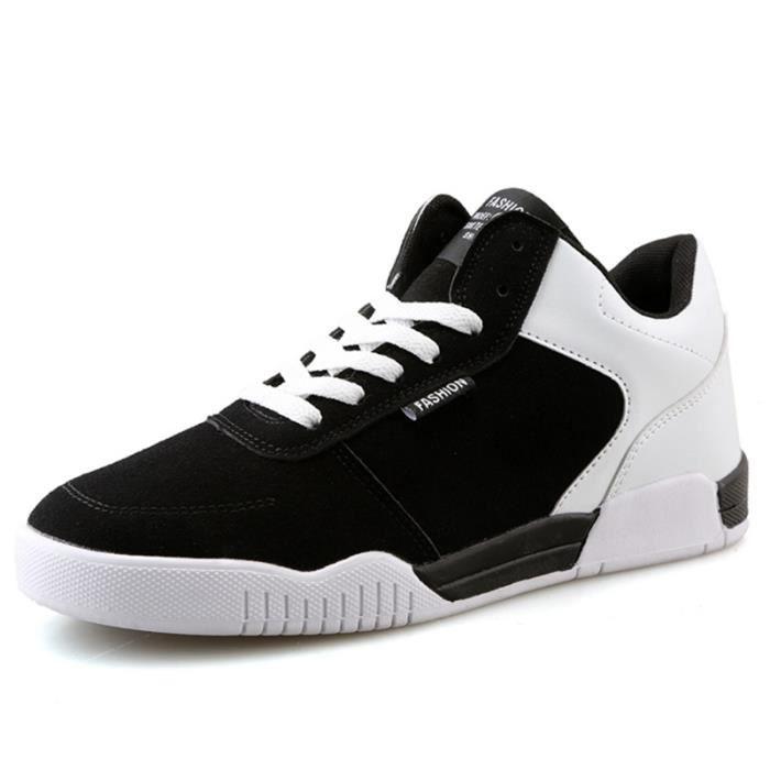 Chaussures De Sport Pour Hommes en daim Textile De Course Populaire BLLT-XZ126Blanc40