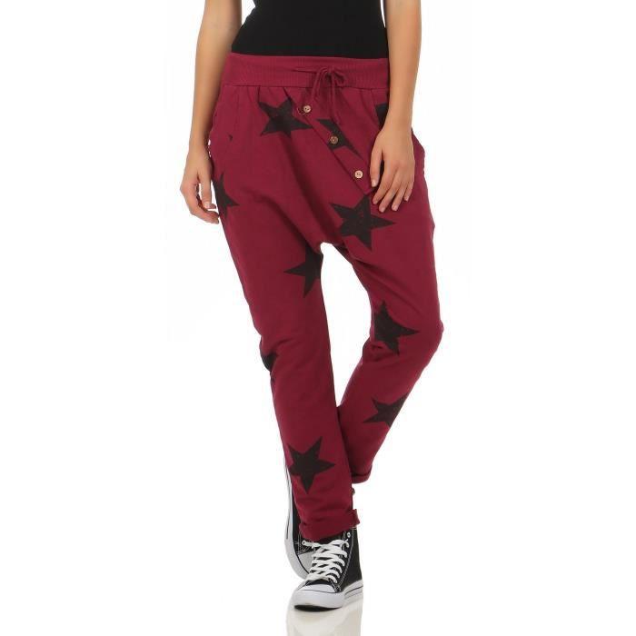 femmes zarmexx pantalons de survêtement baggy petit ami avec bouton face pantalons  de loisirs jogging pantalons coton t 3C7PA9 Taill 11d9ad57b02