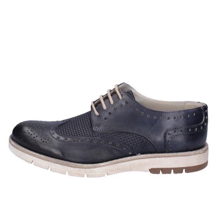 Bleu Derbies Chaussures Ossiani Bt868 Cuir Homme 4Ez4nqI