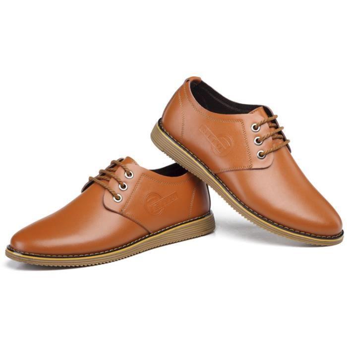 Classique d'automne Chaussures en cuir Jaune