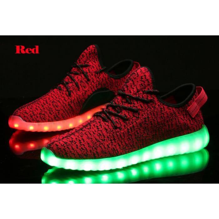 lumière sport lumineuses LED unisexe LED lumière unisexe chaussures Chaussures lumineuses Chaussures lacets 1THZRwA