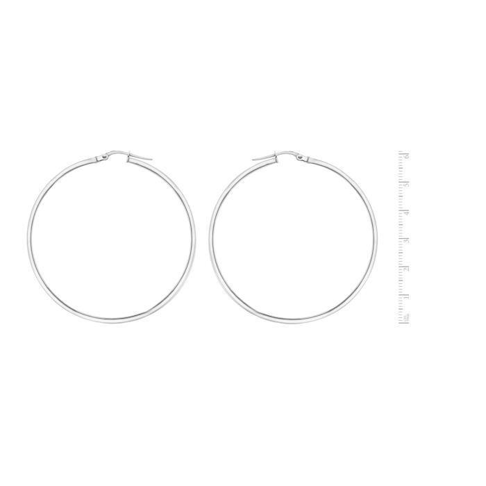 Fine Earring Argent 925-1000 Ronde Z4DZ2