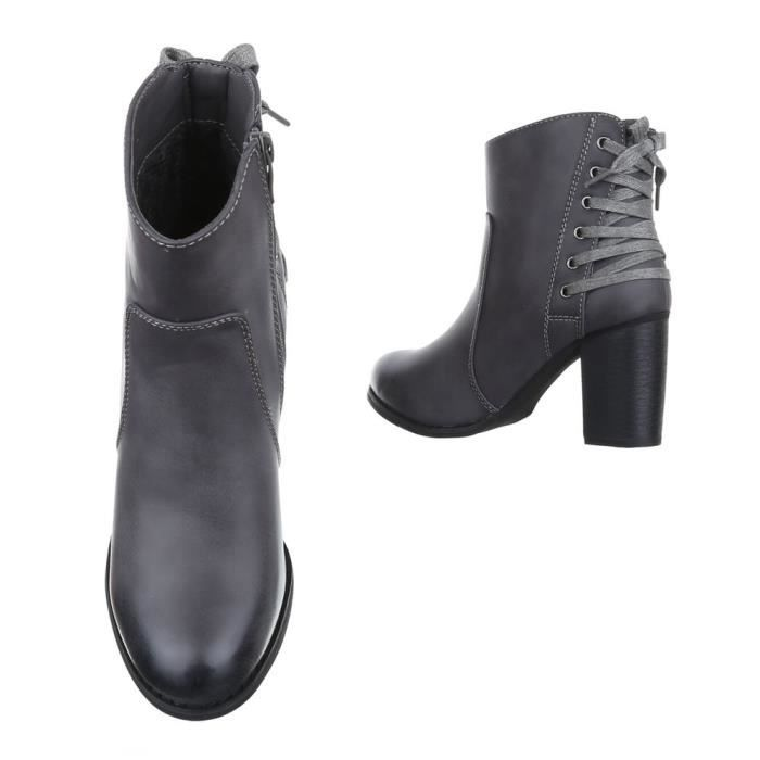 femme bottine chaussure botte Optik d'occasion gris