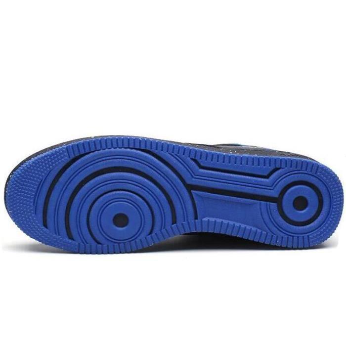 Chaussures De Sport Pour Hommes en daim Textile De Course Populaire WYS-XZ122Bleu39 CBZLPRq3L