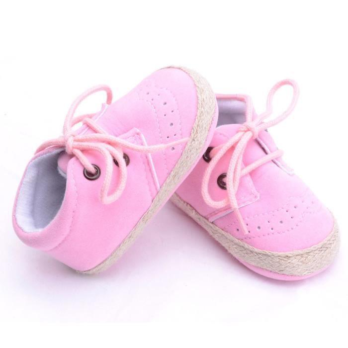 BOTTE Nouveau-né Infantile Bébé Filles Garçons Crib Chaussures Doux Semelle Anti-slip Sneakers Chaussures@RoseHM CAd2u8F