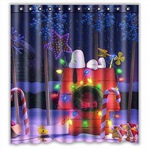 RIDEAU DE DOUCHE Joyeux Noël personnalisé Tissu imperméable rideau