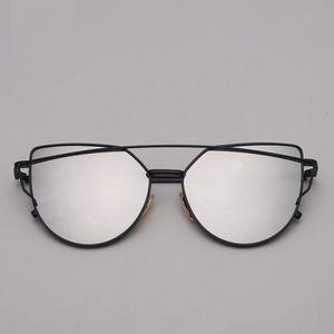 LUNETTES DE SOLEIL Model Noir Argent - Leonlion Designer Cat Eye Lun ... 39b18042688d