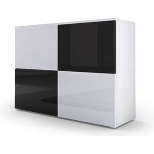 COMMODE DE CHAMBRE Commode design avec le corps mat blanc et façades