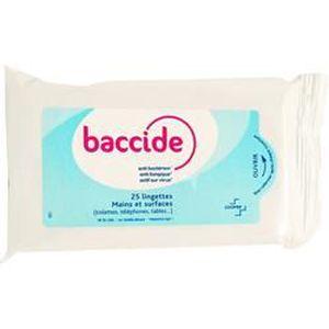 GEL - CRÈME DOUCHE BACCIDE Lingettes Mains et Surfaces - Pack de 35
