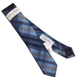 CRAVATE - NŒUD PAPILLON Cravate Calvin Klein Slim  étroite Carreaux Soie S  ... 1e95c0cf38a