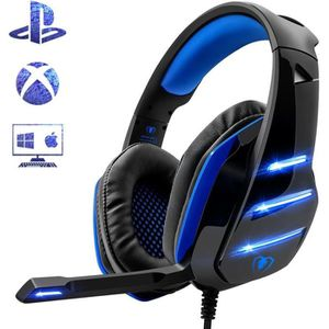 CASQUE AVEC MICROPHONE Micro Casque Gaming PS4 playstation 4 Casque PC Ul