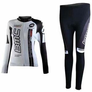 MAILLOT DE CYCLISME BMC Maillot de Cyclisme Femme Manches Longues + Pa