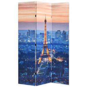 PARAVENT Cloison de séparation pliable 120x180 cm Paris la