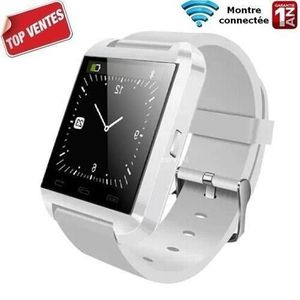 BRACELET D'ACTIVITÉ Montre blanc connectée U8 Bluetooth iPhone,Android