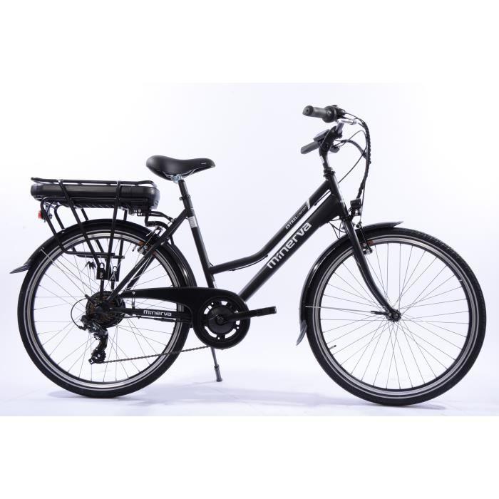 Vélo électrique ville Minerva- 80 km autonomie- 7 vitesses Shimano- batterie 13ah