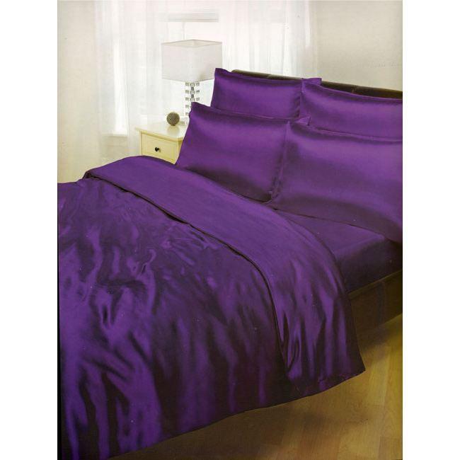 satin ensemble housse de couette drap housse achat vente parure de couette cdiscount. Black Bedroom Furniture Sets. Home Design Ideas