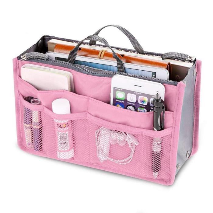 Le sac des femmes dans des sacs voyagent organisateur de stockage de poche de maquillage de sac à main cosmétique
