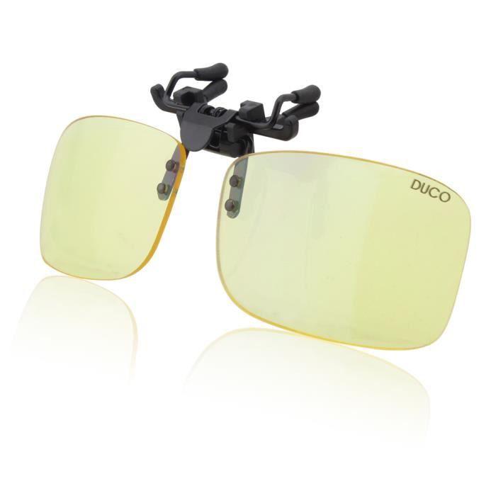 Lunettes pour jeux vidéo Duco - Lunettes pour ordinateur - à porter par  dessus des lunettes de vue - excellente protection contre la 7391249aadb2