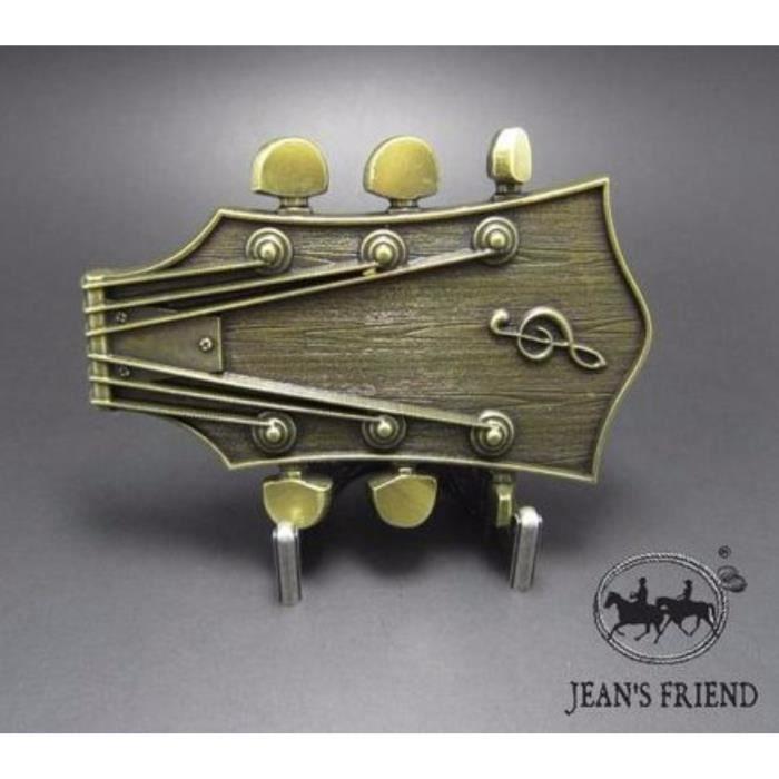df9ae5b2c985 Boucle ceinture western country cowboy frette de guitare de l or odd ...
