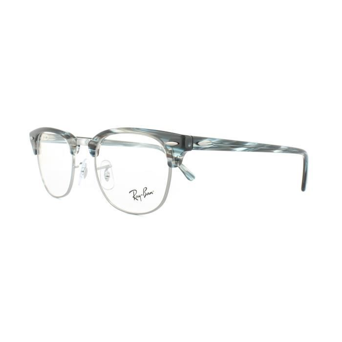 Ray-Ban Glasses Frames 5154 Clubmaster 5750 Blue Grey Striped 51mm ... 0b02e069cc02