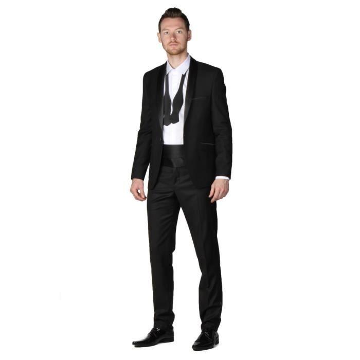 Tenue de cérémonie homme smoking... Noir - Achat   Vente costume ... 7a60e0642ab
