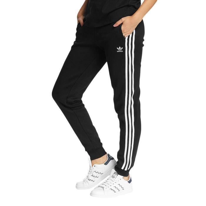 Adidas Femme Pantalons   Shorts   Jogging 3 Strips Noir Noir - Achat ... 2ade61e10c1