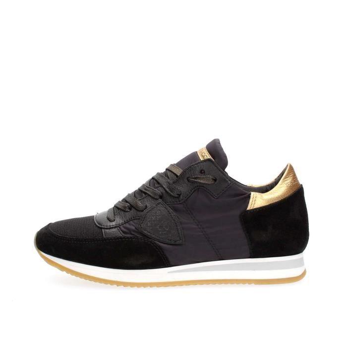 Sneaker Homme Pas cher en Soldes, Noir, Cuir, 2017, 40 43Philippe Model