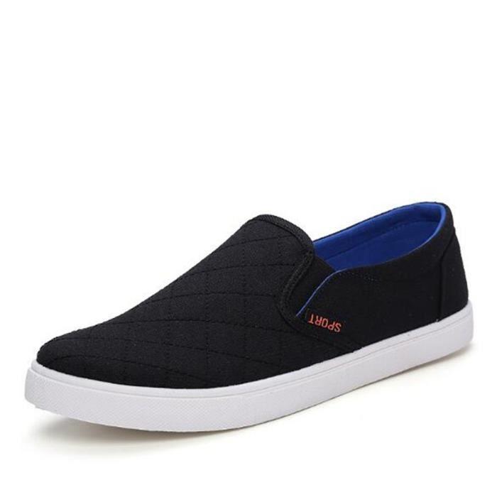 Chaussures En Toile Hommes Basses Quatre Saisons Populaire BLLT-XZ114Noir43 NxmlpUya