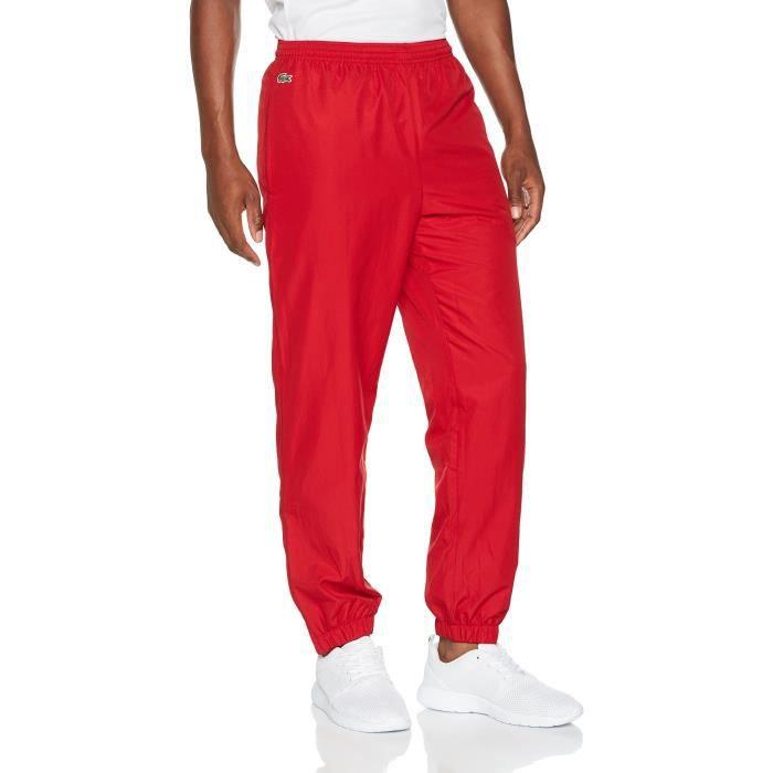 df530e7667 Lacoste Pantalon Survêtement Plaine 1V2SV5 Taille-M Rouge Rouge ...