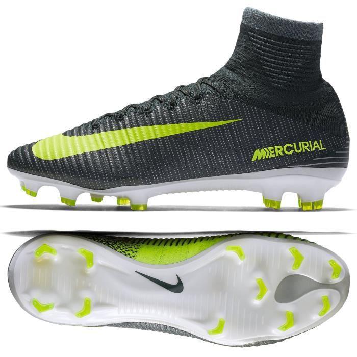 new arrival 7e2c9 4babd CHAUSSURES DE FOOTBALL Nike Mercurial Superfly V Cr7-sol ferme de soccer