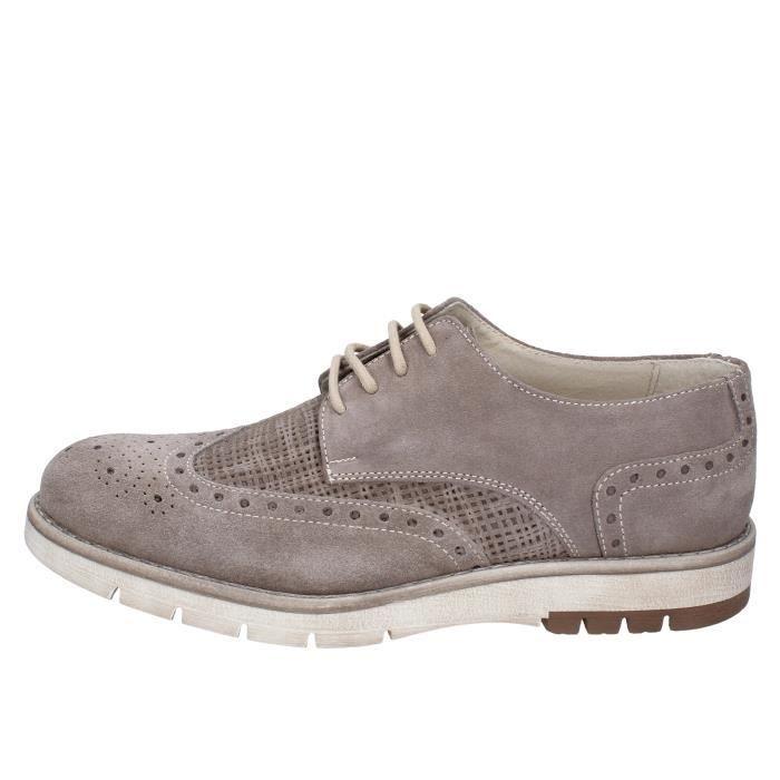 5034676ef778 KEP S by CORAF Chaussures Homme Derbies Daim Beige BZ884 Beige Beige ...