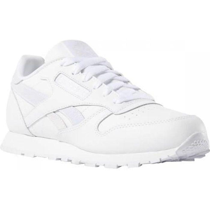 baskets brillante blanche femme reebok