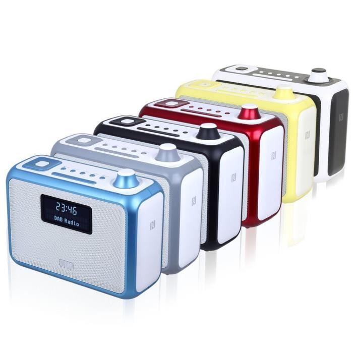 August Mb400 – Radio Portable Fm-dab-dab Avec Haut-parleur Stéréo Bluetooth Nfc Réveil Double Alarme Lecteur Mp3 : Port Usb ...