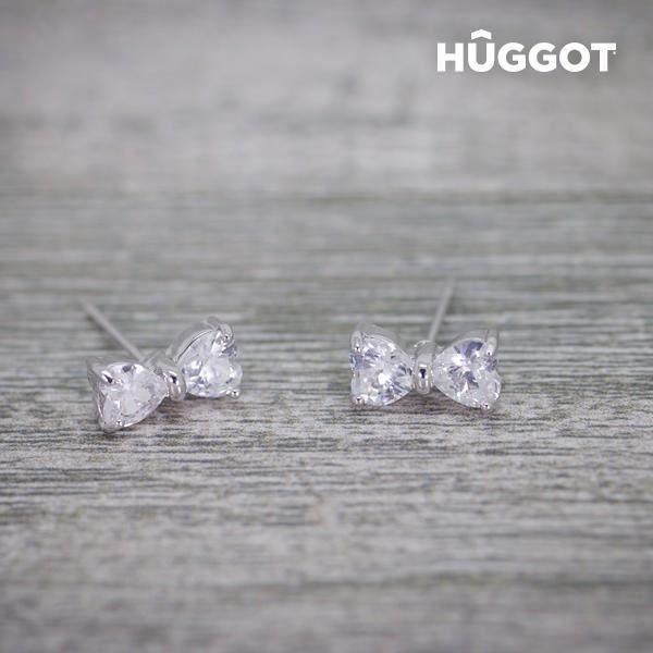 Boucles d oreilles en forme de noeud à cristaux - Idée cadeau femme st valentin