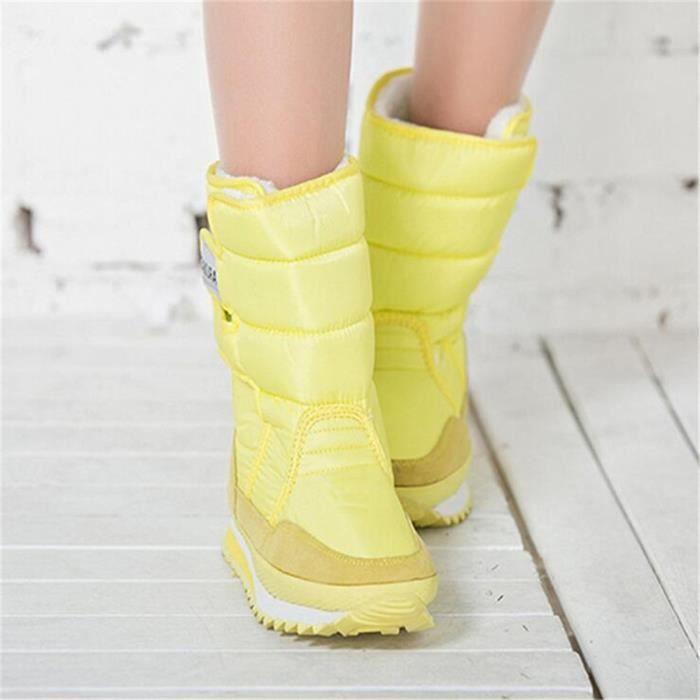 Femmes Bottines Garder au chaud mi-bottes Antidérapant Femme Neige et temps froid hiver Nouvelle Mode Marque D dss061rose38