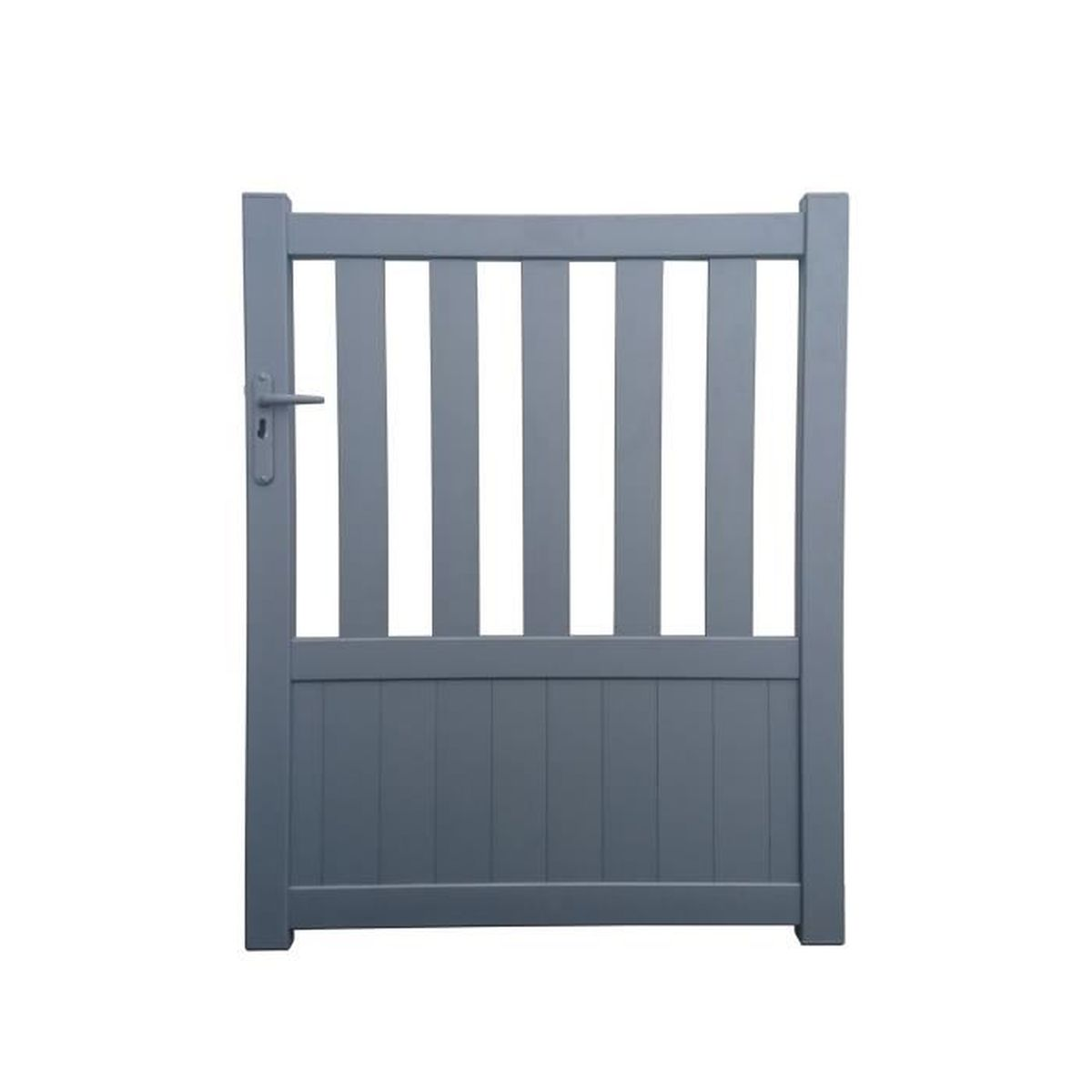 Portillon geneve gris 1m achat vente portail for Portillon pvc gris