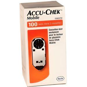 LECTEUR DE GLYCEMIE Accu Chek Mobile Cassette bande test