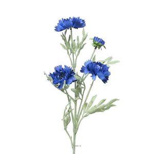 bleuet artificiel 4 tetes h 60 cm fausse fleur superbe achat vente fleur artificielle. Black Bedroom Furniture Sets. Home Design Ideas