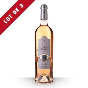 VIN ROSÉ 3X Château Cransac Privilège 2016 Rosé 75cl AOP Fr