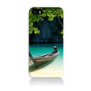 BARQUE DE PÊCHE Coque iPhone 5S - Barque Eau Douce