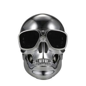 HAUT-PARLEUR - MICRO Skull Bluetooth haut-parleur argent