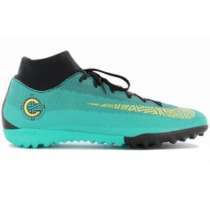the latest 001bf 3ea30 Nike MercurialX Superfly 6 Academy CR7 TF AJ3568-390 Football Vert  Chaussures Homme Sneaker Baskets Pointure: EU 41 US 8