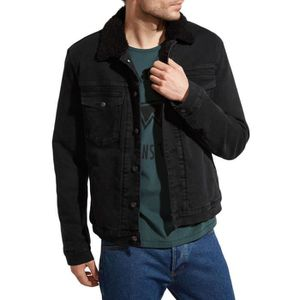 top quality no sale tax store Veste en jean noire homme
