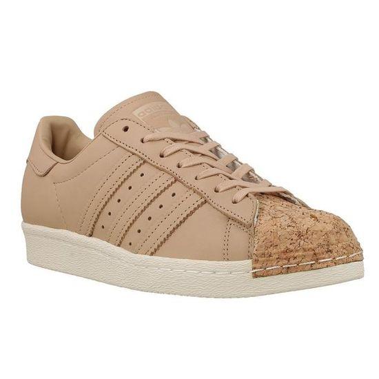 Chaussures Adidas Superstar 80S Cork W Beige Beige - Achat / Vente basket