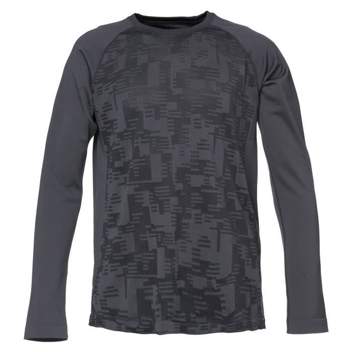 ASICS Seamless Tee shirt manches longues Homme Gris