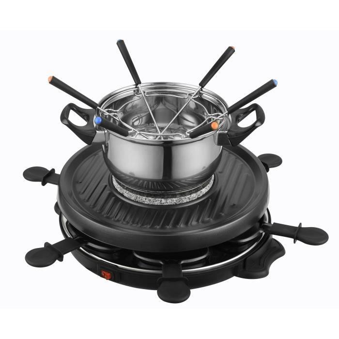 KALORIK TKG RAC1010FO Appareil à raclette et fondue 6 personnes - Noir