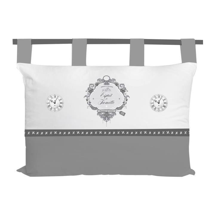 SOLEIL D' OCRE Tête de lit Esprit de Famille 100% coton - 45 x 70 cm - Blanc